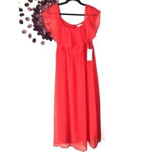 ⭐️WAYF Coral Off the Shoulder Maxi Dress